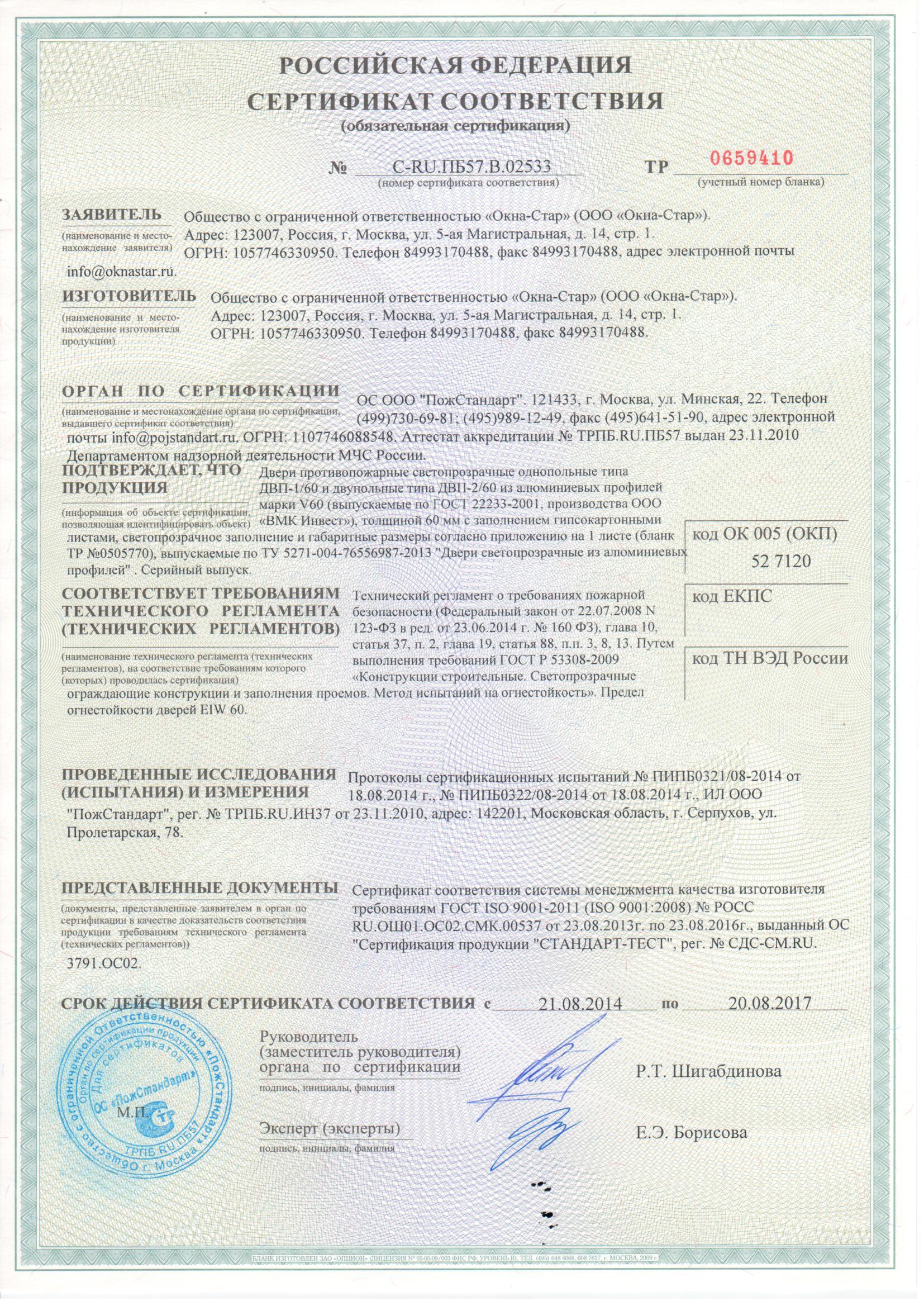 Сертификация дверей из пвх международная сертификация.метрология
