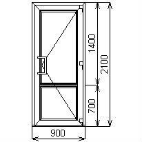 Противопожарная дверь 900х2100 мм