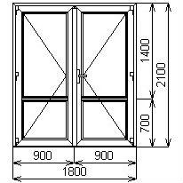 Противопожарная дверь 1800х2100 мм