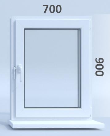 Готовые пластиковые окна ПВХ Novotex 700 х 900 мм